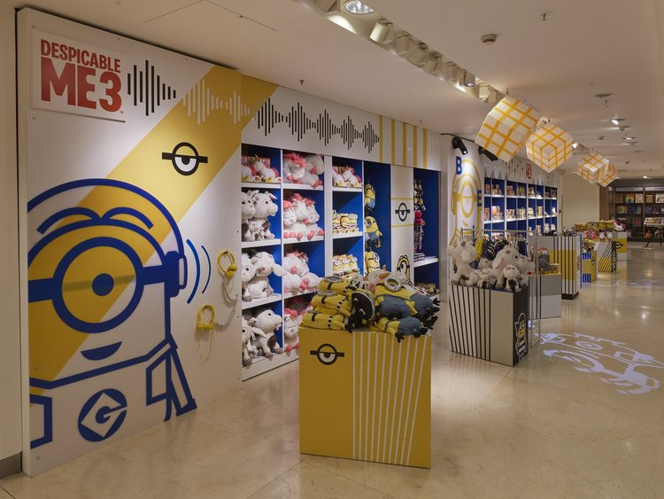 Propability,+Oakwood,+Selfridges,+Despicable+Me+3,+Minions,+Retail+Design,+Toys